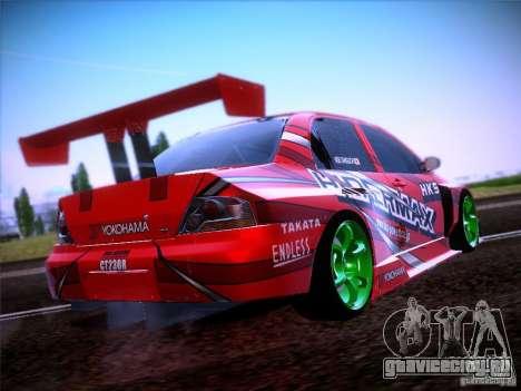 Mitsubishi Lancer Evolution 9 Hypermax для GTA San Andreas вид сзади