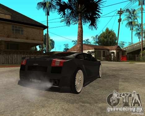 Lamborghini Gallardo HAMANN Tuning для GTA San Andreas вид сзади слева
