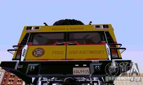 Hummer H2 Ambluance из Трансформеров для GTA San Andreas вид сзади слева