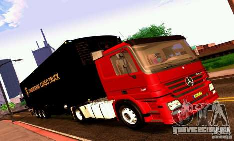 Lamborghini Cargo Truck для GTA San Andreas вид сзади слева
