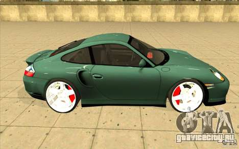 Porsche 911 Turbo для GTA San Andreas вид изнутри