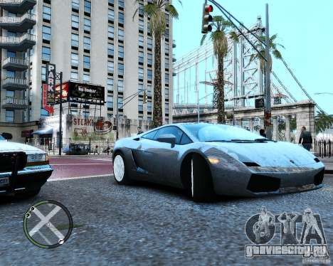 Lamborghini Gallardo 2005 для GTA 4 вид справа