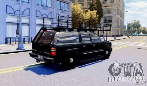 Chevrolet Suburban 2003 Norwegian SWAT Edition для GTA 4 вид слева