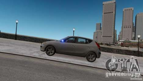 Hyundai i30 Unmarked для GTA 4 вид сзади слева