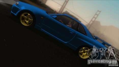 Nissan Skyline GTR-34 для GTA San Andreas вид снизу