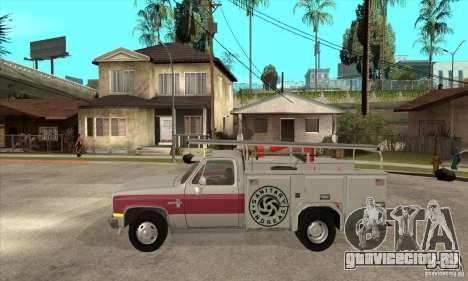 Chevrolet Silverado - utility для GTA San Andreas вид слева