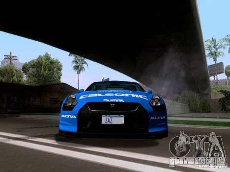 Nissan GTR 2010 Spec-V для GTA San Andreas вид сзади