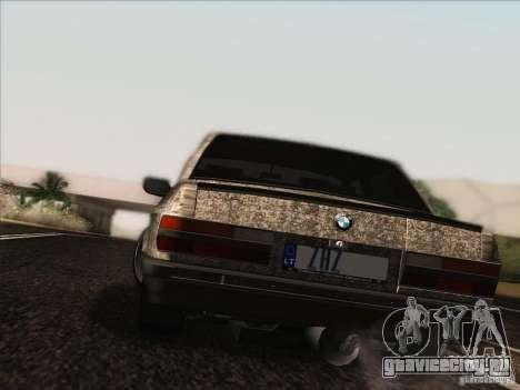 BMW E28 525E RatStyle для GTA San Andreas вид изнутри