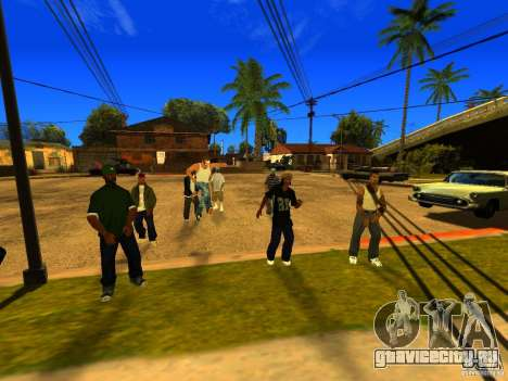 Вечеринка на районе для GTA San Andreas пятый скриншот
