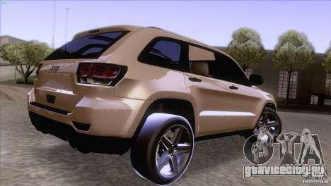 Jeep Grand Cherokee 2012 для GTA San Andreas вид слева