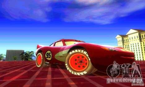 MCQUEEN from Cars для GTA San Andreas вид сзади слева