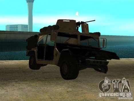 Hummer H1 HMMWV with mounted Cal.50 для GTA San Andreas вид сзади слева