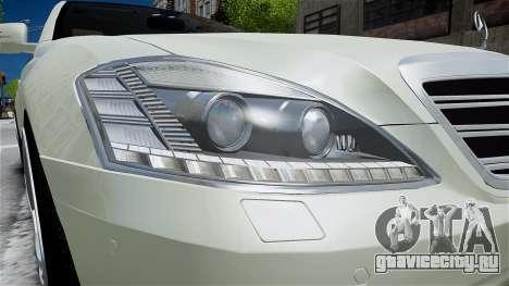 Mercedes-Benz S65 AMG LONG 2010 для GTA 4 вид сбоку