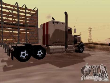Kenworth W 900 RoadTrain для GTA San Andreas вид справа
