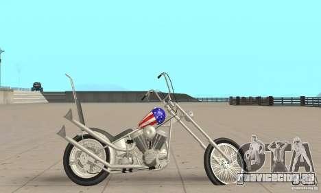 Captain America Chopper для GTA San Andreas вид сзади слева