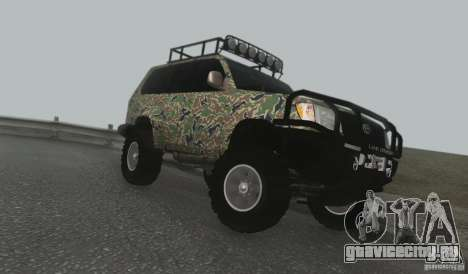 Toyota Land Cruiser 100 Off Road для GTA San Andreas вид слева