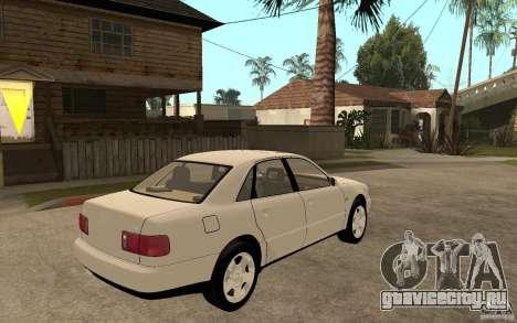 Audi A8 4.8L 2000 для GTA San Andreas вид справа