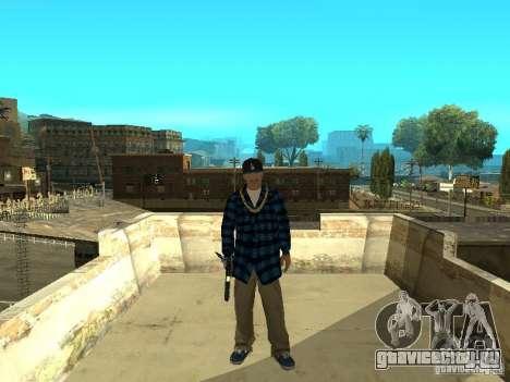 Varrios Los Aztecas Gang Skins для GTA San Andreas третий скриншот