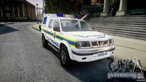 Nissan Frontier Essex Police Unit для GTA 4 вид сзади
