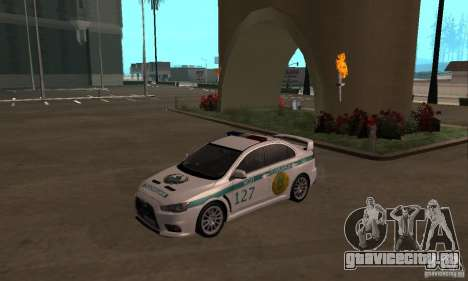 Mitsubishi Lancer Evolution X Полиция Казахстана для GTA San Andreas