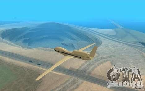 Grumman RQ-4 для GTA San Andreas вид сзади слева