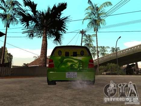 Volkswagen Touran The Hulk для GTA San Andreas вид сзади слева