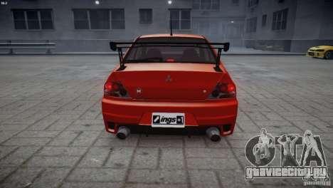 Mitsubishi Lancer Evolution 8 v2.0 для GTA 4 вид сзади слева
