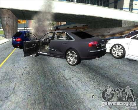 Audi A8L W12 для GTA San Andreas вид сзади