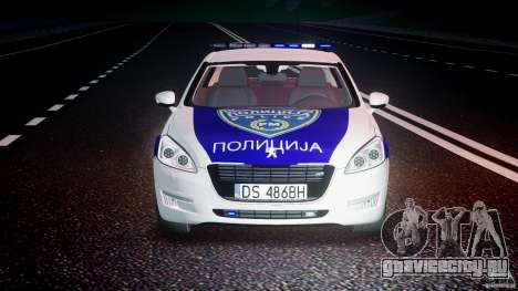 Peugeot 508 Macedonian Police [ELS] для GTA 4 вид снизу