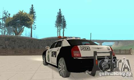 Chrysler 300C Police v2.0 для GTA San Andreas вид сзади слева