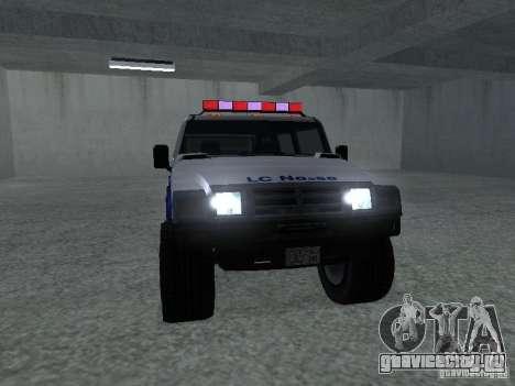 NOOSE Patriot из GTA 4 для GTA San Andreas вид сзади слева