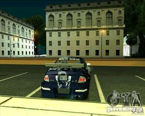 Nissan Sentra для GTA San Andreas вид сзади слева