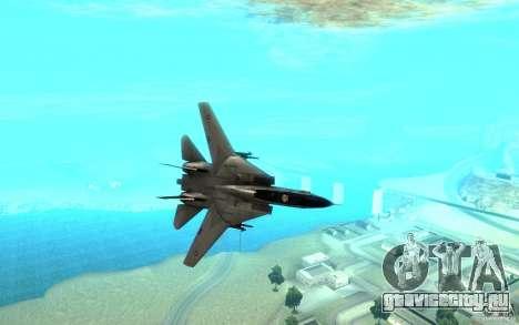 F-14A Screaming Eagles VF-51 для GTA San Andreas вид сзади