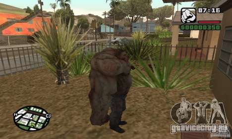 Танк из Left 4 Dead для GTA San Andreas третий скриншот