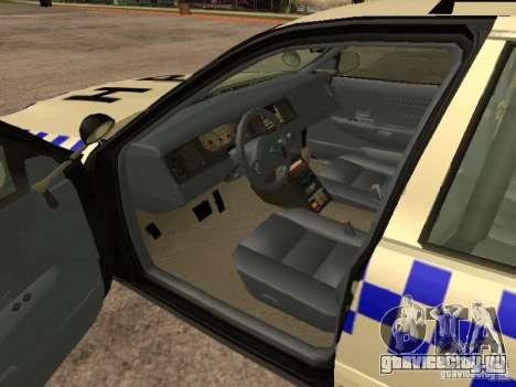 Ford Crown Victoria NSW Police для GTA San Andreas вид сзади слева