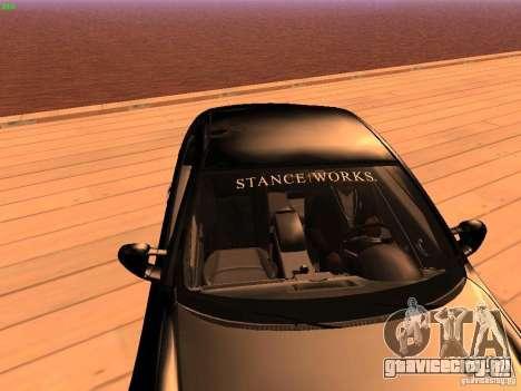 Infiniti G35 V.I.P для GTA San Andreas вид изнутри
