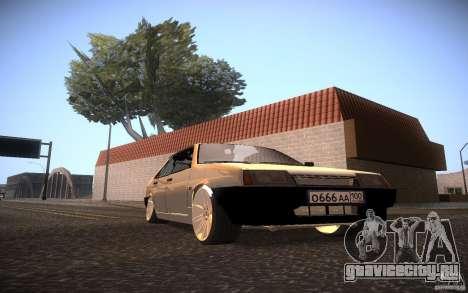ВАЗ 21099 LifeStyle Tuning для GTA San Andreas вид сзади слева