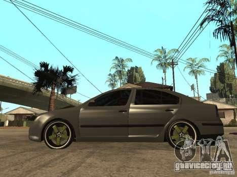 Skoda Octavia Custom Tuning для GTA San Andreas вид слева