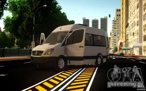 Mercedes-Benz Sprinter Passenger для GTA 4 вид сзади слева