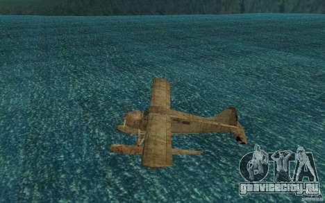 De Havilliand Beaver DHC2 для GTA San Andreas вид сзади слева