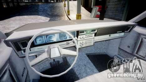 Chevrolet Impala 1983 для GTA 4 вид сзади