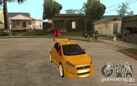 Fiat Grande Punto Tuning для GTA San Andreas вид сзади