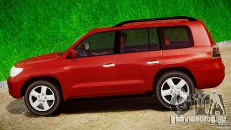 Toyota Land Cruiser 200 2007 для GTA 4 вид изнутри