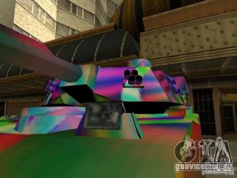 Веселенькая расцветка танка для GTA San Andreas вид слева