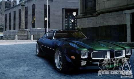 Pontiac Firebird 1971 для GTA 4 вид сзади слева