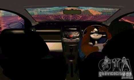 Toyota Aygo V1.0 для GTA San Andreas вид сверху