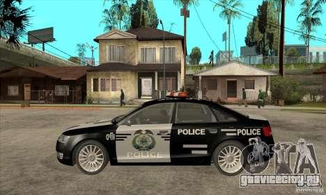 Audi A6 Police для GTA San Andreas вид слева