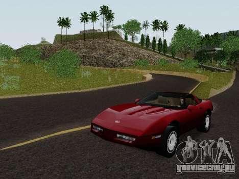 Chevrolet Corvette C4 1984 для GTA San Andreas вид сзади слева