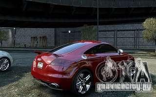 Audi TT RS 2010 для GTA 4 вид сзади
