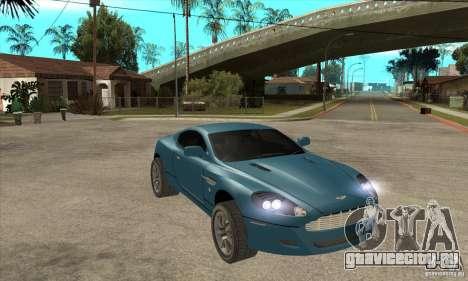Aston Martin DB9 из NFS MW для GTA San Andreas вид сзади